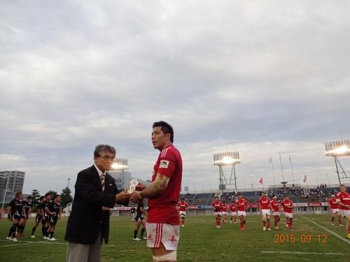 マンオブザマッチ神戸橋本選手