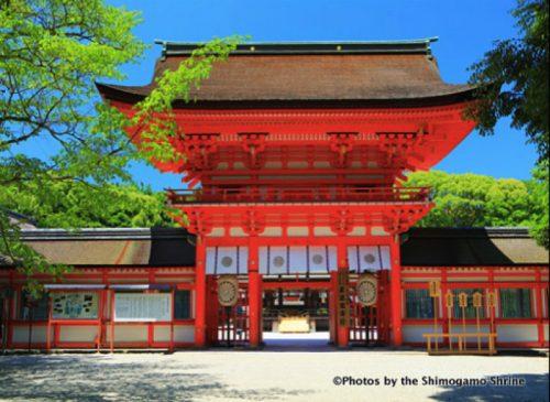 ◯下鴨神社の本殿前で、ラグビーワールドカップ2019日本大会の大会成功と全ての参加 チームの健康を祈願する。